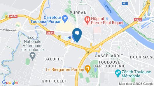 Novotel Toulouse Purpan Aéroport Map