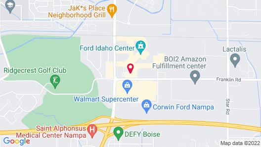 Hampton Inn & Suites Boise/Nampa at the Idaho Center, ID Map