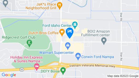 Hampton Inn & Suites Boise/Nampa at the Idaho Center, ID Map
