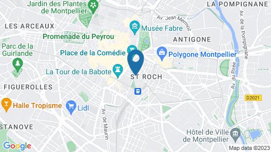 Hôtel Oceania Le Métropole Montpellier Map
