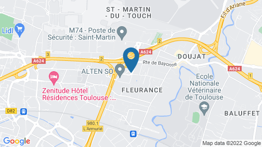 Nemea Appart'Hotel Toulouse Saint-Martin Map