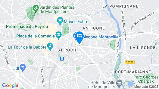 Pullman Montpellier Centre Map