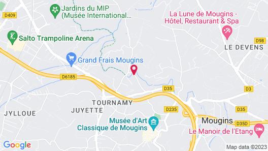 Les Rosées Map