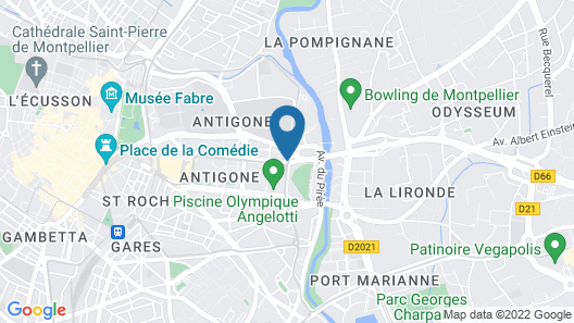 Mercure Montpellier Centre Antigone Map