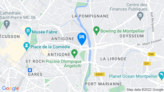 Novotel Suites Montpellier Map