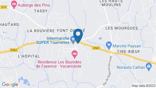 Résidence Les Bastides de Fayence Map