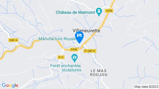 Hôtel Restaurant La Source Map