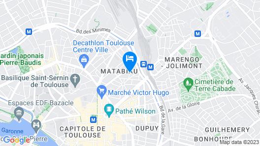 Privilège Appart Hotel Saint-Exupéry Map
