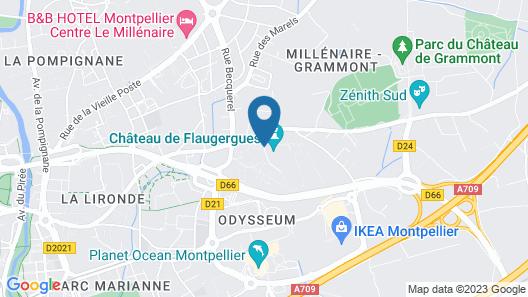 Lagrange Apart'HOTEL Montpellier Millénaire Map