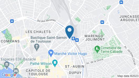 ibis Toulouse Gare Matabiau Map