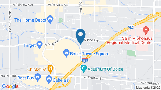 Candlewood Suites Boise - Towne Square Map