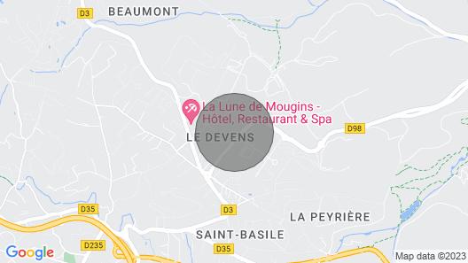 Villa Bastide Mougins- Piscine SPA Discoteque Tennis Map