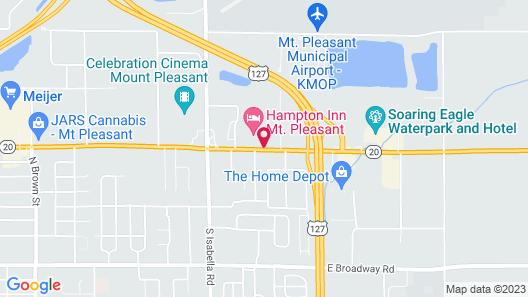 Hampton Inn MT Pleasant Map