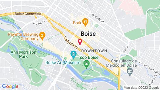 Residence Inn by Marriott Boise Downtown City Center Map