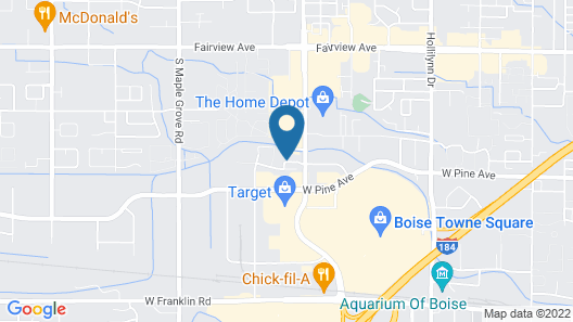 Hyatt Place Boise/Towne Square Map