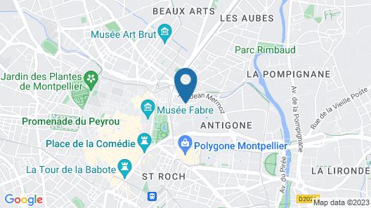 Crowne Plaza Montpellier - Corum Map