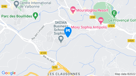 Novotel Antibes Sophia Antipolis Map