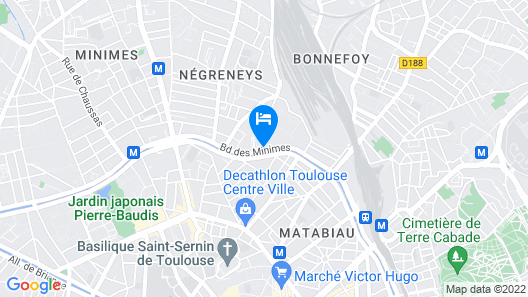 ibis budget Toulouse Centre Gare Map