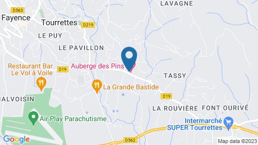 Auberge des Pins Map