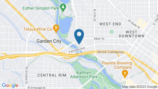Cottonwood Suites Boise Riverside Downtown Map