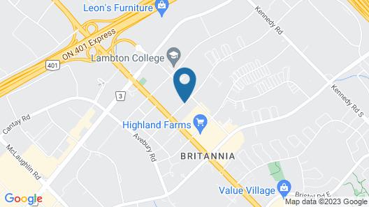 Hilton Garden Inn Toronto - Mississauga Map