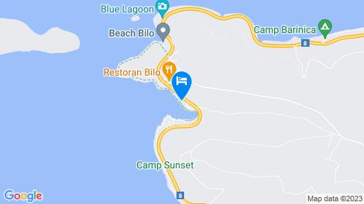 Luxury Villa Sea Mermaid with pool Map
