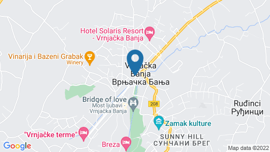 Zepter Hotel Vrnjacka Banja Map