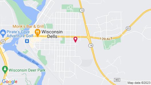 Black Hawk Motel and Suites Map