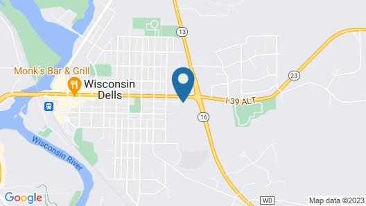 Woodside Dells Hotel & Suites Map
