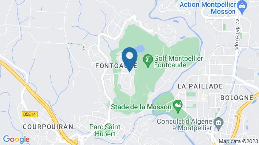 Quality Hotel du Golf Montpellier Juvignac Map