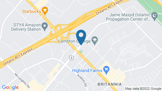 Quality Inn Airport West Map