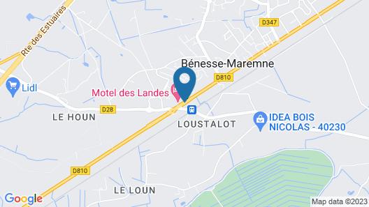 Motel des Landes Map