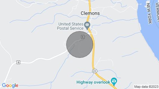 Huletts Landing, NY in Southern Adirondacks Near Lake George & Lake Champlain Map