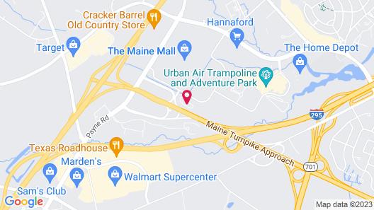 Hampton Inn Portland Airport Map