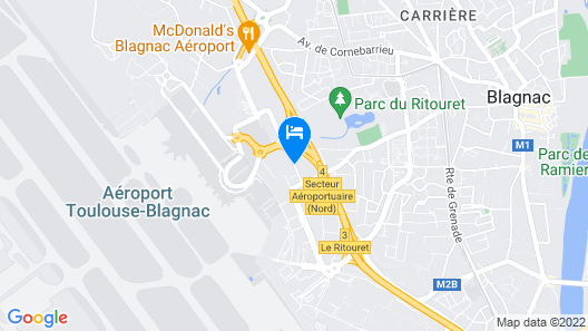 Radisson Blu Hotel Toulouse Airport Map