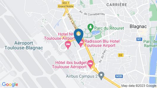Appart'hotel Aerel Toulouse-Blagnac Map