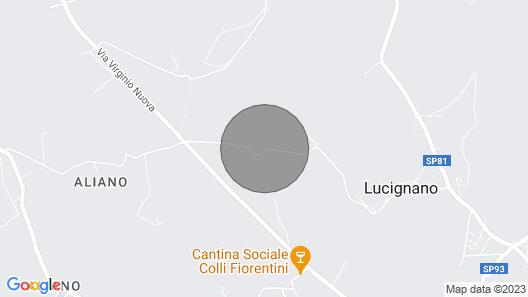 Luxury villa Bargino Map