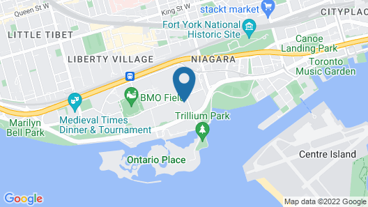 Hotel X Toronto by Library Hotel Collection Map