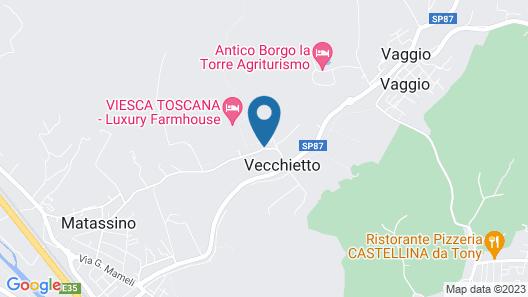VIESCA Suites & Villas – Il Borro Toscana Map