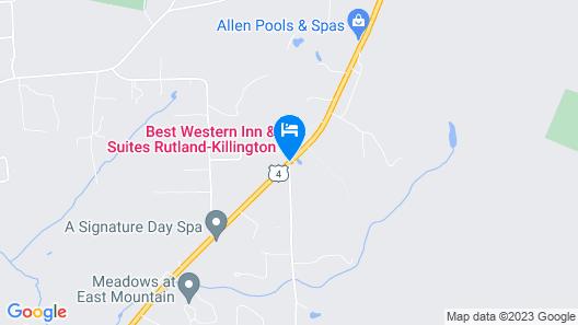 Best Western Inn & Suites Rutland-Killington Map