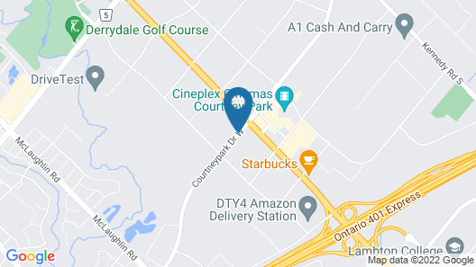 Fairfield Inn & Suites by Marriott Toronto Mississauga Map