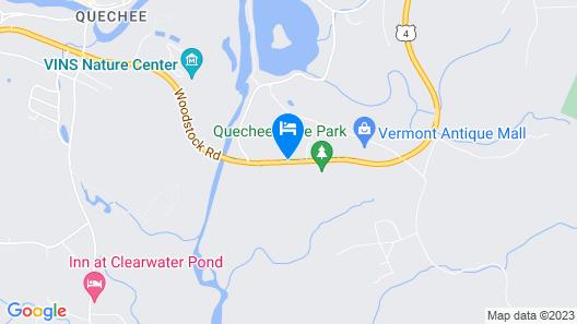Quality Inn At Quechee Gorge Map