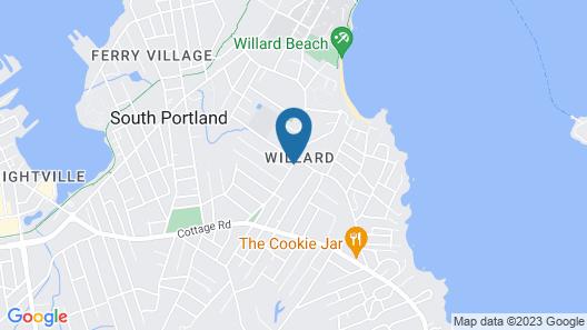 Be Near Willard Beach in a Wonderful Residential Neighborhood Map