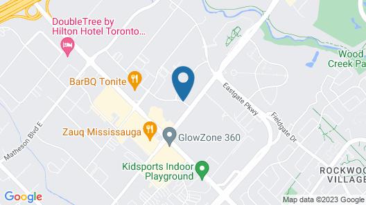 Hilton Garden Inn Toronto Airport West/Mississauga Map