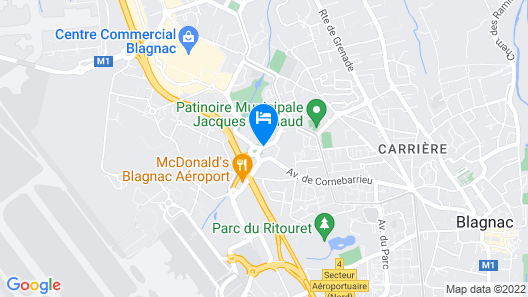 Holiday Inn Express Toulouse Airport Map