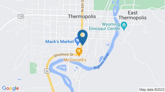 Paintbrush Inn Thermopolis Map