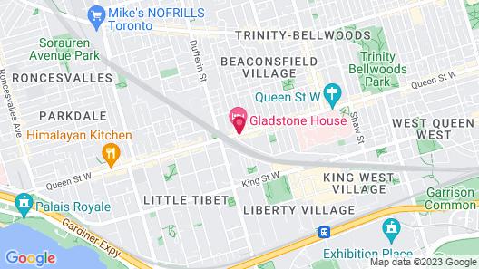 Gladstone Hotel Map