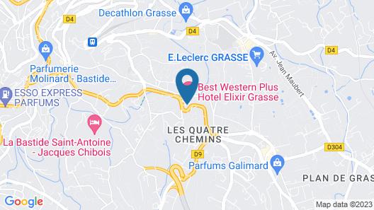 Best Western Plus Hotel Elixir Grasse Map