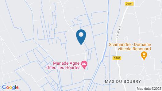 Le Mazet De Jean en Camargue Map