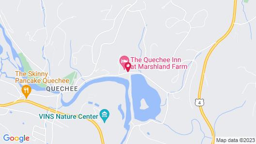 The Quechee Inn at Marshland Farm Map